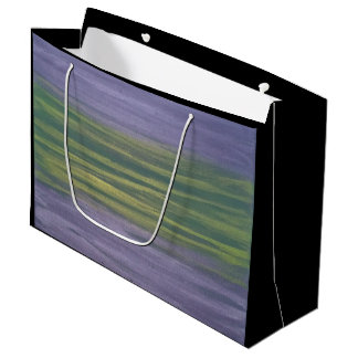 Sincere Party | Lime Green Purple Abstract Stripe Large Gift Bag