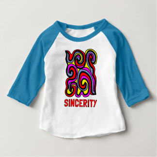 """Sincerity"" Baby 3/4 Raglan T-Shirt"