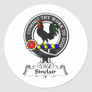 Sinclair Clan Crest Classic Round Sticker