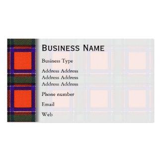 Sinclair clan Plaid Scottish tartan Pack Of Standard Business Cards