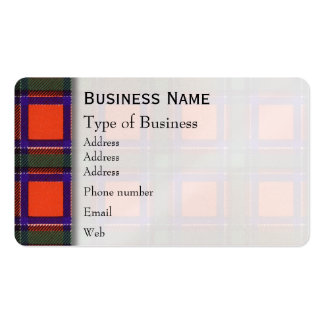 Sinclair clan Plaid Scottish tartan Pack Of Standard Business Cards
