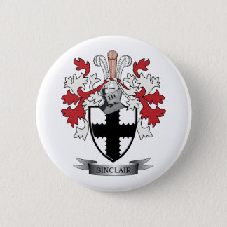 Sinclair Family Crest Coat of Arms 6 Cm Round Badge