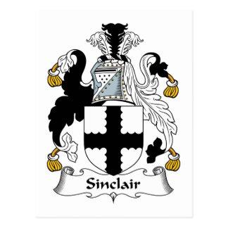 Sinclair Family Crest Postcard