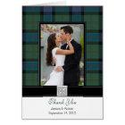 Sinclair Tartan Photo Wedding Thank You Card