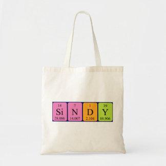 Sindy periodic table name tote bag