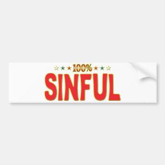 Sinful Star Tag Bumper Stickers