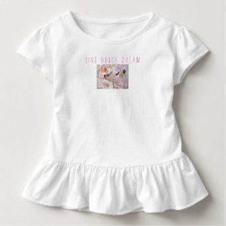 Sing Dance Dream Birds Art Toddler Ruffle Tee