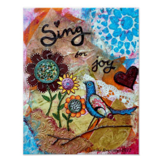 Sing for Joy Art Poster