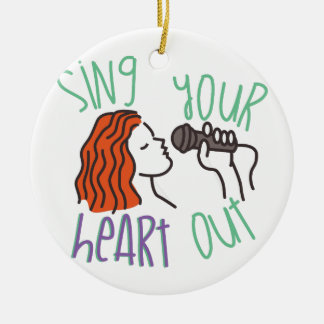 Sing & Heart Out Ceramic Ornament