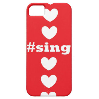 """SING HEARTS"" Red and White IPhone 5/5S Case"