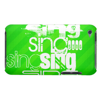 Sing; Neon Green Stripes iPod Touch Cover