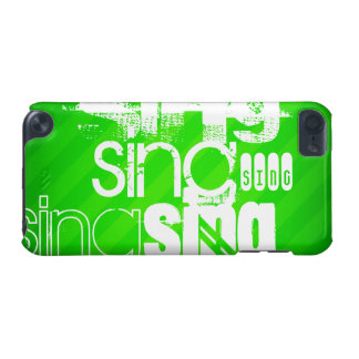 Sing; Neon Green Stripes iPod Touch 5G Cover
