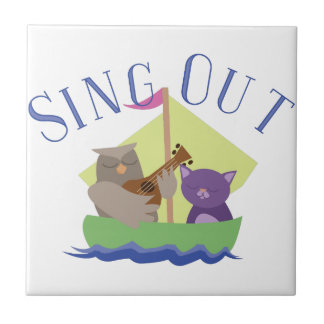 Sing Out Small Square Tile
