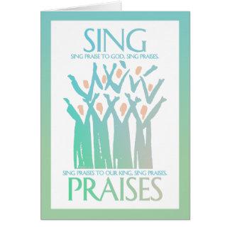 Sing Praises Choir Card