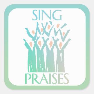 Sing Praises Choir Square Sticker