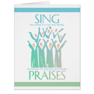 Sing Praises To God Choir Card