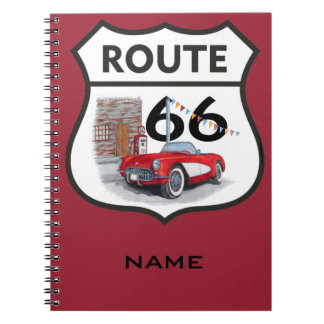 Sing route 66 gifts notebook