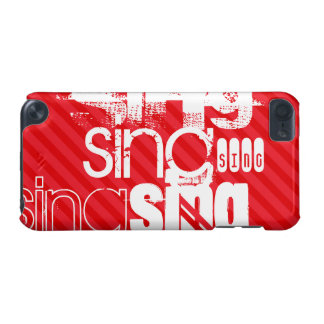 Sing; Scarlet Red Stripes iPod Touch (5th Generation) Case
