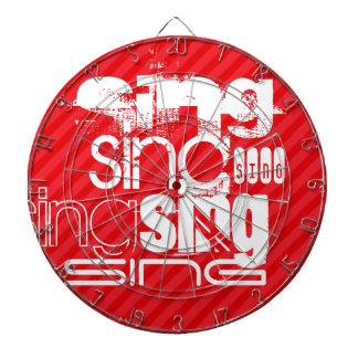 Sing; Scarlet Red Stripes Dartboards