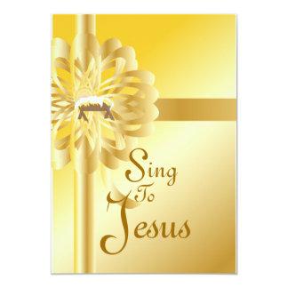 Sing To Jesus-Customize 13 Cm X 18 Cm Invitation Card