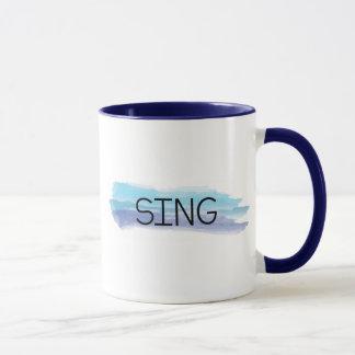 SING WATERCOLOR MUG for MUSIC TEACHERS