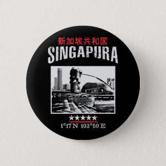 Singapore 6 Cm Round Badge