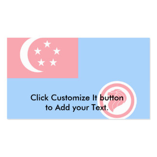 Singapore Air Force Service, Singapore flag Pack Of Standard Business Cards