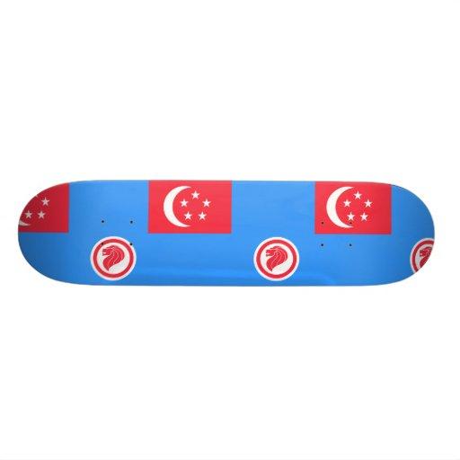 Singapore Air Force Service, Singapore flag Custom Skate Board