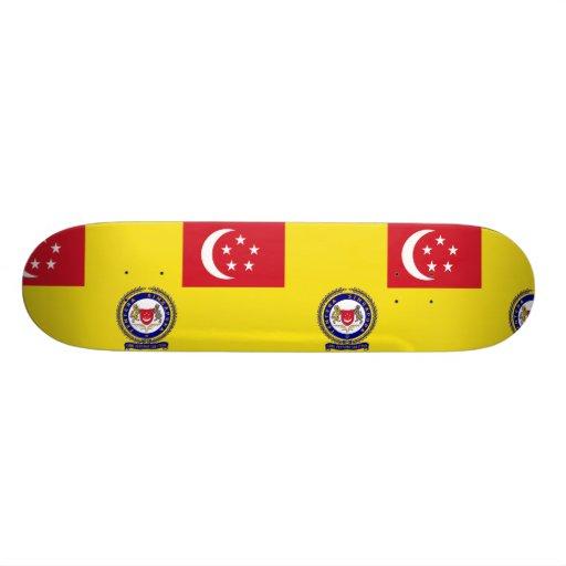 Singapore Army Service, Singapore flag Skate Board Deck