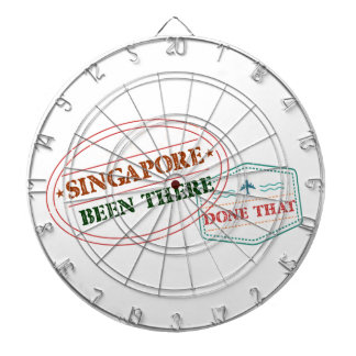 Singapore Been There Done That Dartboard