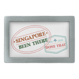 Singapore Been There Done That Rectangular Belt Buckle