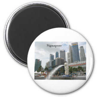 singapore (by St.K) 6 Cm Round Magnet