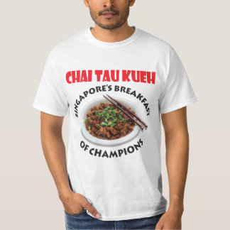 Singapore Chai Tau Kueh v2 - Light Fabric Tee Shirt