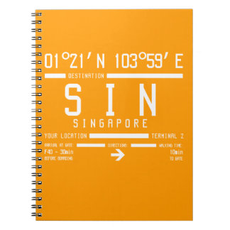 Singapore Changi Airport Letter Code Spiral Notebook
