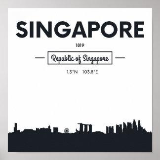 Singapore, China | City Coordinates Poster