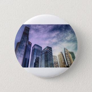 Singapore City 6 Cm Round Badge