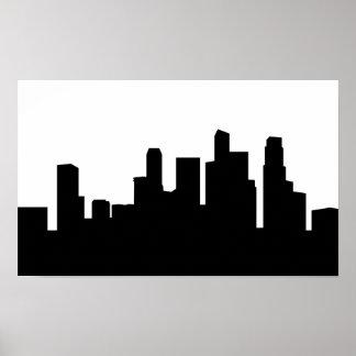 singapore city skyline silhouette poster