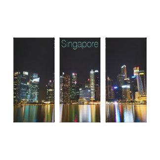 Singapore Cityscape at Night Canvas Print