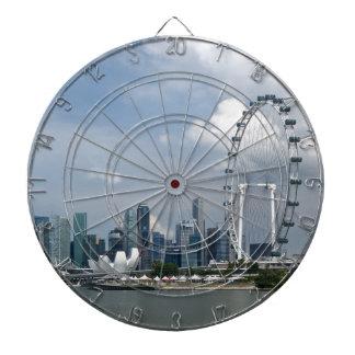 Singapore cityscape dartboards