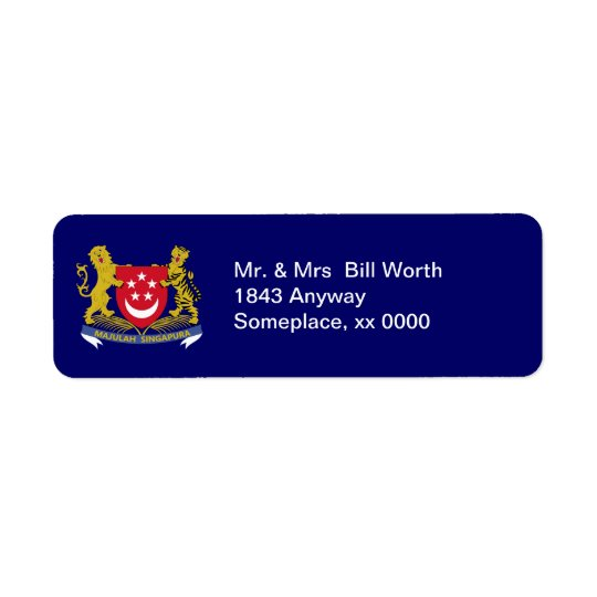 Singapore COA Return Address Label