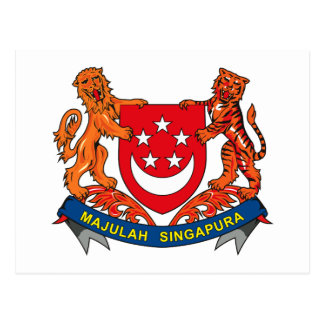 Singapore Coat of Arms Post Cards