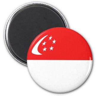 Singapore Fisheye Flag Magnet