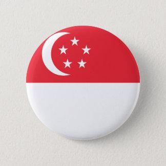 Singapore Flag 6 Cm Round Badge