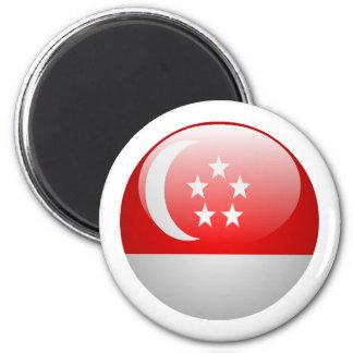Singapore Flag 6 Cm Round Magnet