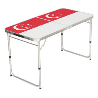 Singapore Flag Beer Pong Table