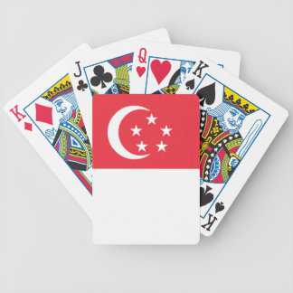 Singapore Flag Bicycle Playing Cards