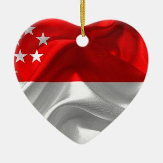 singapore-Flag Ceramic Ornament