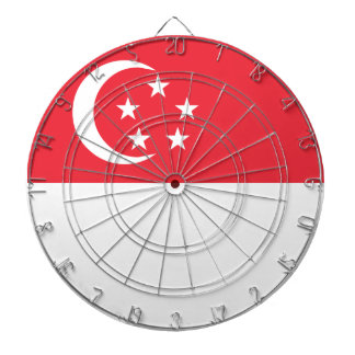 Singapore Flag Dartboard