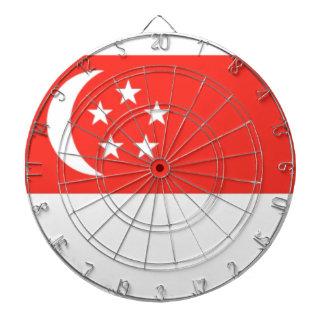 Singapore Flag Dartboard With Darts
