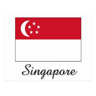 Singapore Flag Design Postcard
